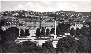 Neues Schloß, ca. 1936. Nach der Zerstörung der Fluko-Zentrale in der Fürstenstraße wurde sie zunächst im Untergeschoß des Schlosses untergebracht.